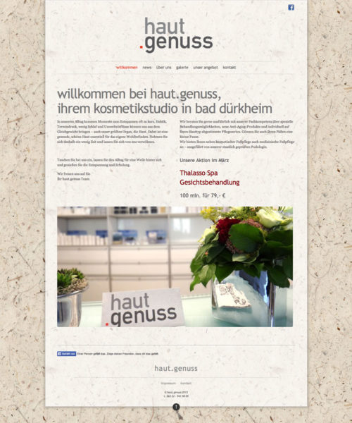 Hautgenuss Website