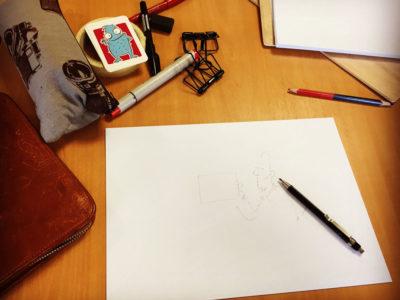 Ein bisschen Papier, ein paar Stifte und ein Tischlein